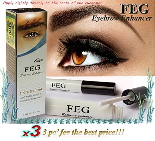 3 X FEG Eyebrow enhancer. The most powerful eyebrow growth Serum 100% Natural. Promote rapid growth of eyelashes. 100% Original with Anti-Fake sticker!!!