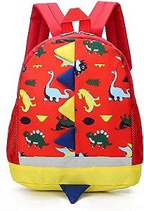 BETOY Mochila Infantil de Dinosaurios Mochila para Niños Infantil Guarderia Mochila Escolar (Rojo)