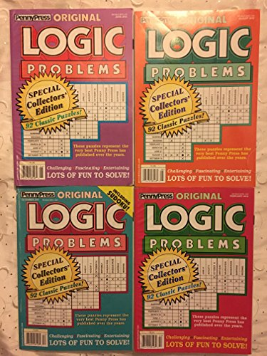 Lot of (4) Penny Press Original Logic Problems Puzzles Full Size Books 2011 2012