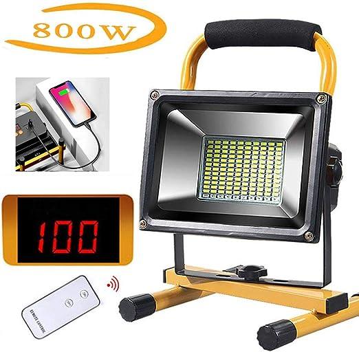 FNHGNG Proyector LED Batería, Foco LED Recargable Portátil,500W ...