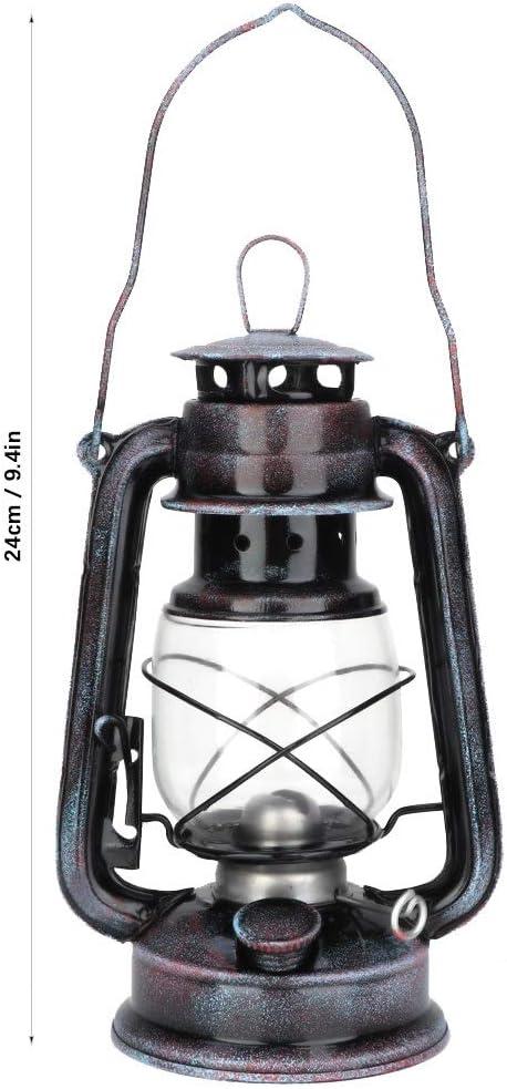 Vintage Laterne Klassische Kerosene /Öllampe Petroleumlampe Tragbare Outdoor Camping Leuchten /Öllampen Blau