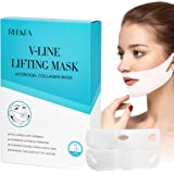 RNEKFA 5Pcs V Line Lifting Face Mask, Chin Up Patch, Double Chin Reducer Mask, V Shaped Slimming Face Mask, Hydrogel…