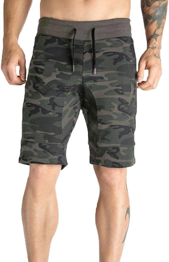 Hommes Pantalons Camouflage décontracté Élastiqué Cordon