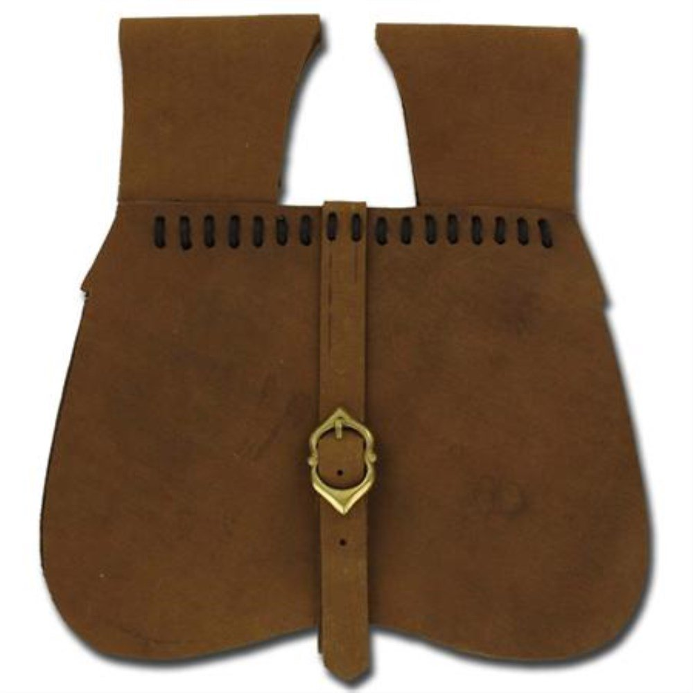 Medieval Renaissance Simple Natural Leather Soldier Pouch by General Edge (Image #1)