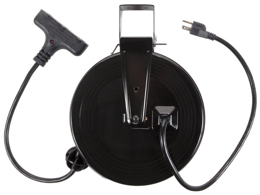Bayco SL-801 13-Amp 30-Foot Triple-Tap Retractable Reel
