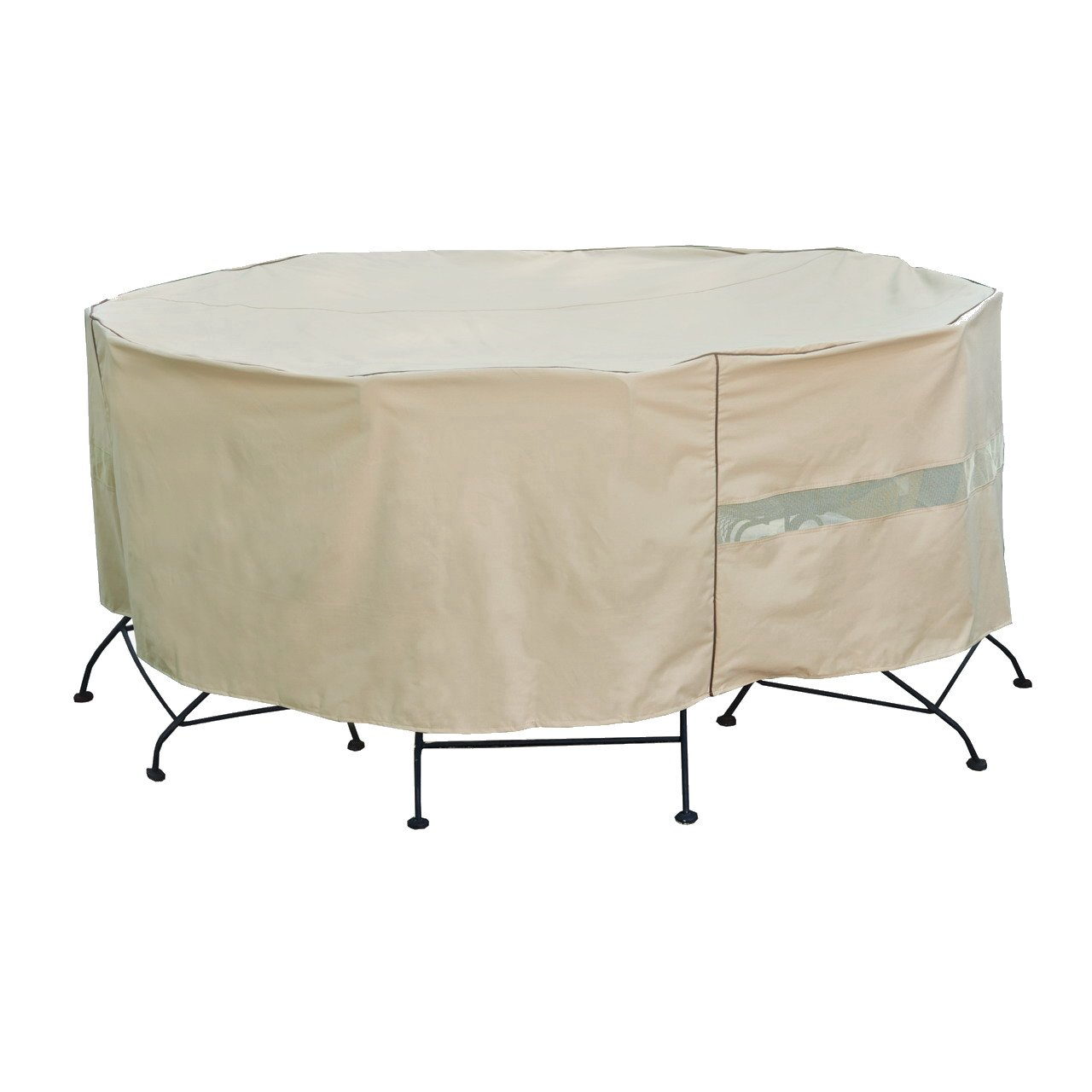 Seasons Select CVP01462 Round Table and Chair Set Cover, Large, Almond