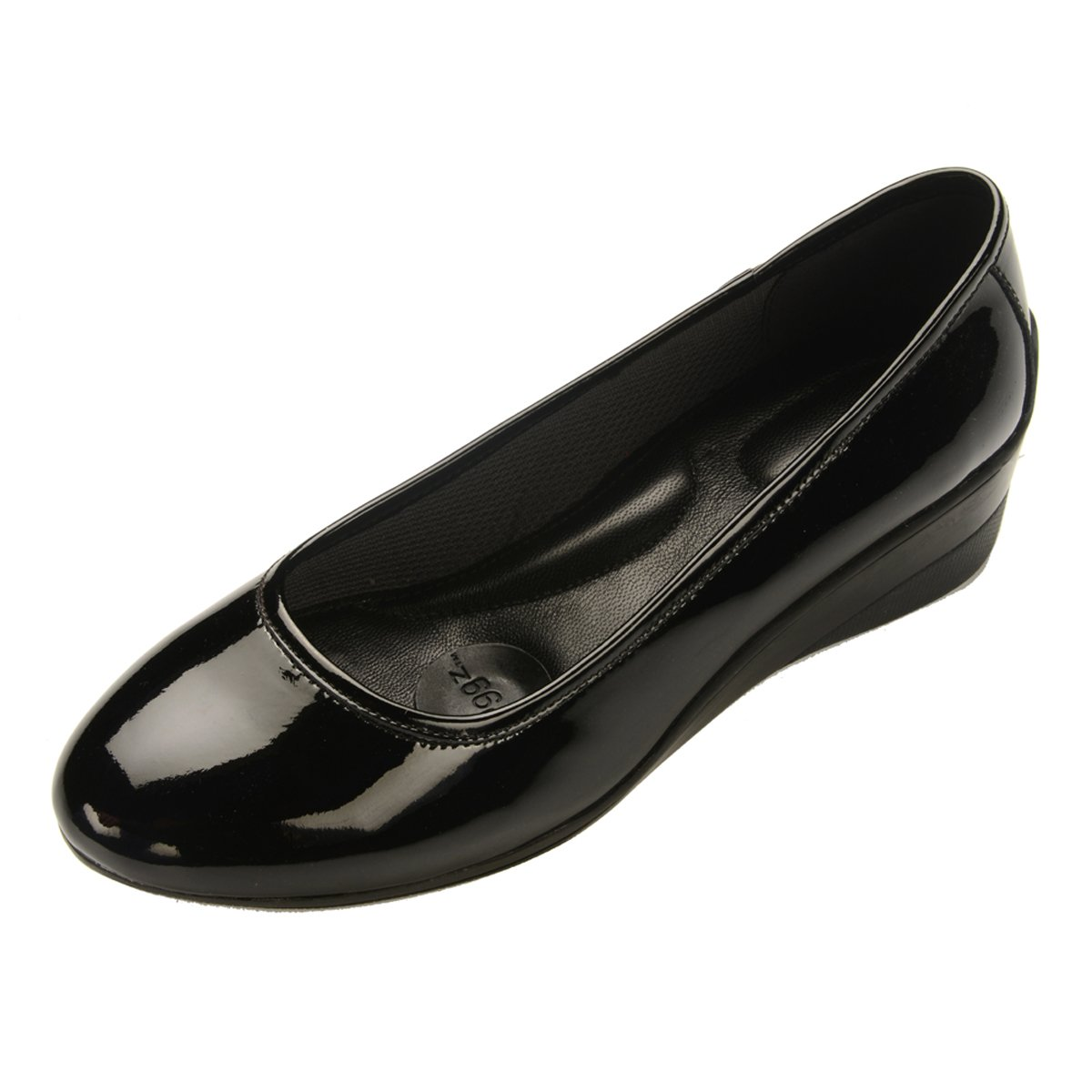 pluggz Black Patent Leather 2 inch Grounding Wedge 7 M US