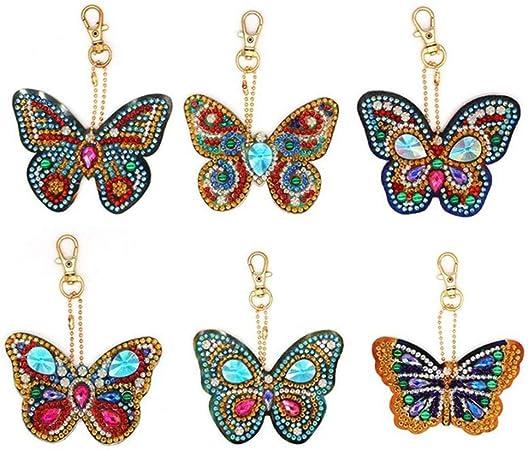 abbastanza Portachiavi fai da te con diamanti a forma di cuore/gufo/farfalla VN05