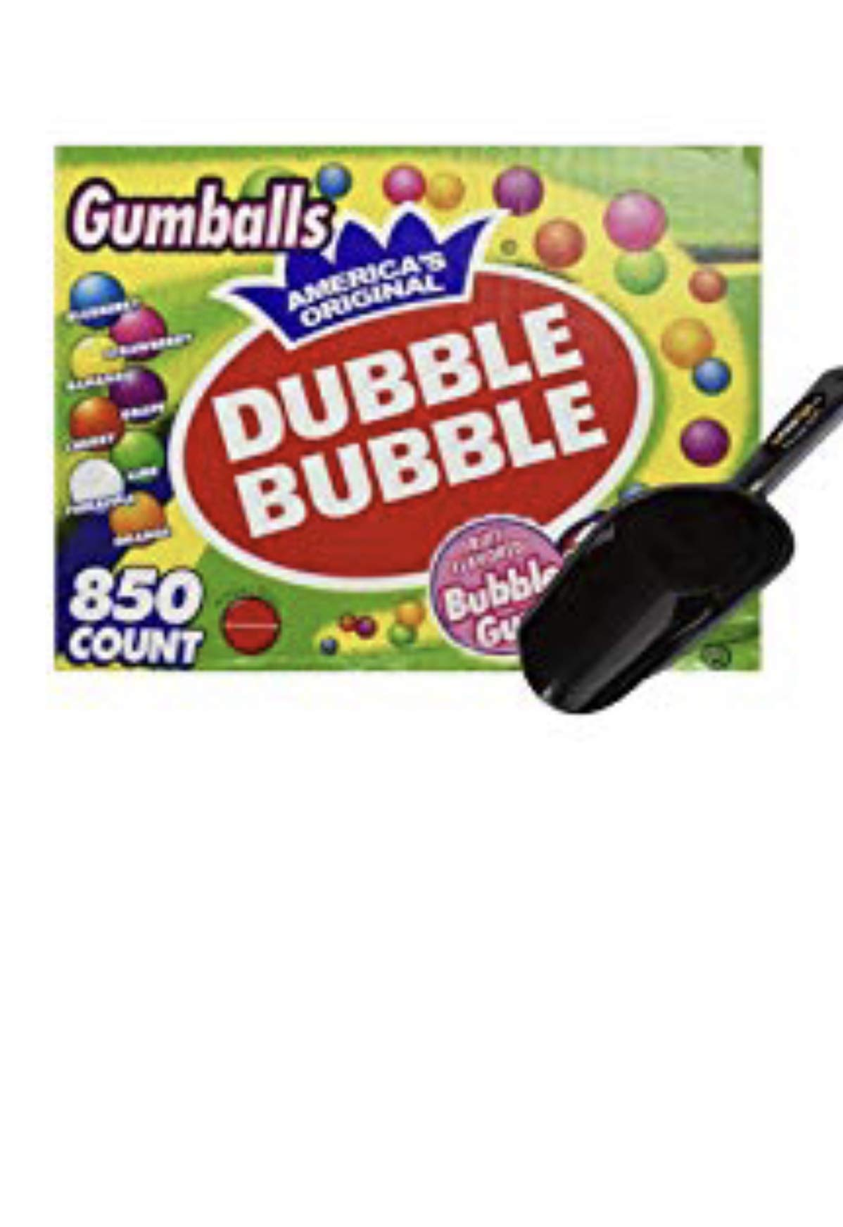 Dubble Bubble One Inch Gumballs 16 Pounds Assorted Flavors and Colors - 850 Count w/InPrimeTime Scoop by Dubble Bubble