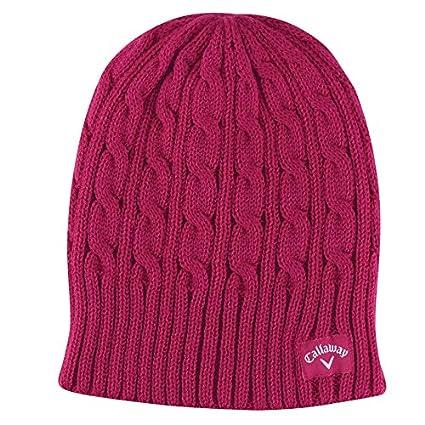 Amazon.com   2014 Callaway Cable Knit Golf Beanie Hat Fuchsia ... d6b38974eaa