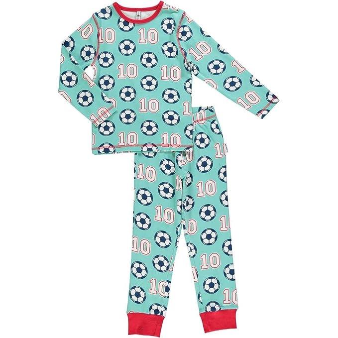 maxomorra de manga larga Pijama de algodón orgánico azul 92