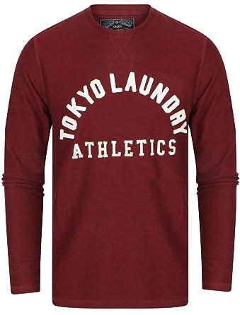 6c4b8011eb8609 Herren langärmliges T-Shirt von Tokyo Laundry Harper Cove   - Windsor Wein -