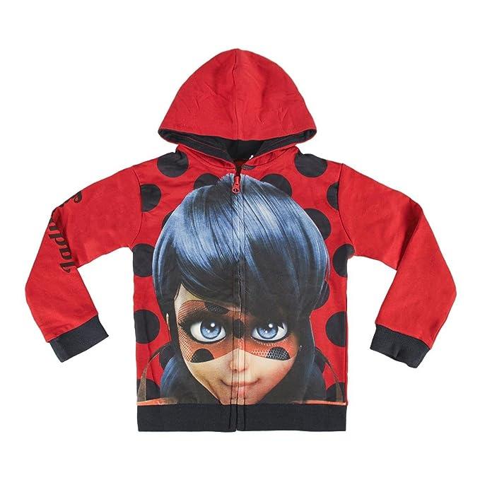 Ladybug - Sudadera con capucha y cremallera (12 años)