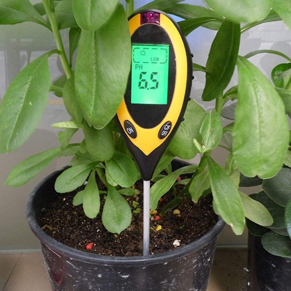 Soil PH Tester, Soil Survey Instrument Moisture Meter 4-in-1 PH Levels Plant Soil Tester with Backlit LCD Display, Light & Moisture acidity Tester,Great For Garden, Farm, Lawn, Indoor & Outdoor by GETMORE7 (Image #4)