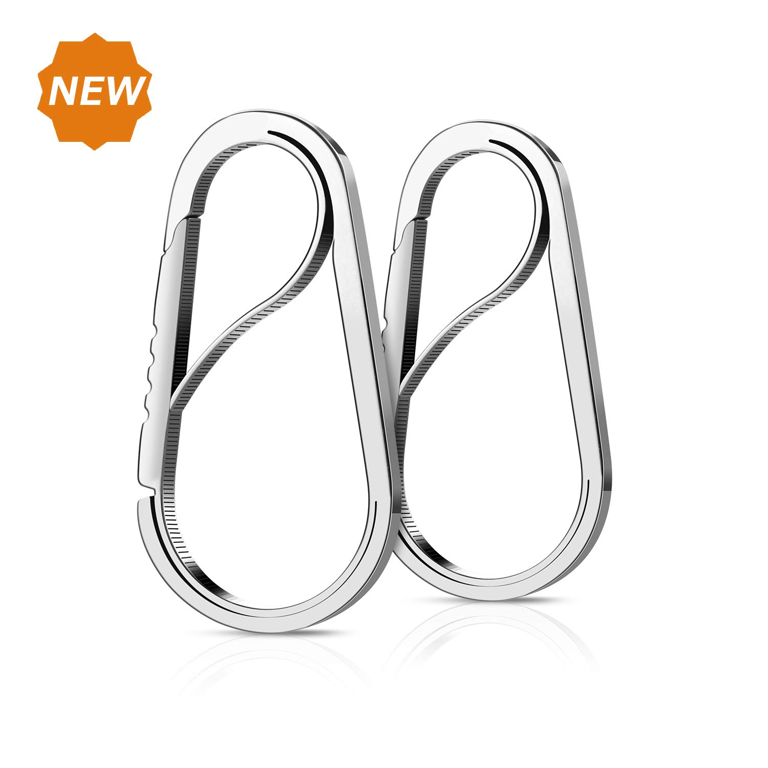 Keyring Bottle Opener Stainless Steel Carabiner Key Chain Quick Release Outdoor