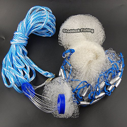 Monofilament Cast Net 4-feet 3/8inch Mesh Size
