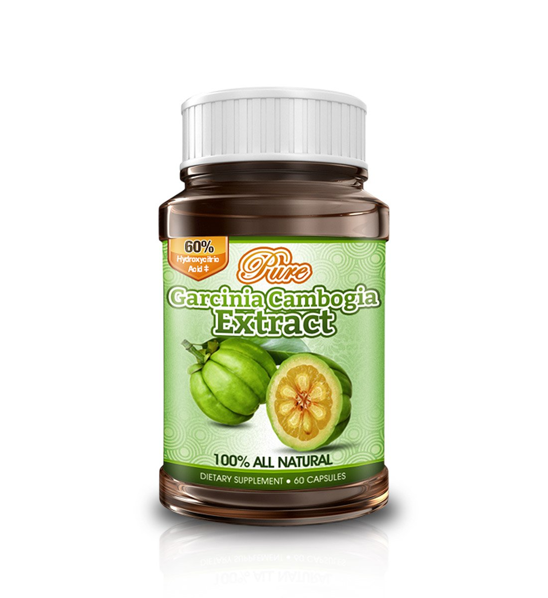 Pure Garcinia Cambogia Extract | 60% HCA - 3 bottles by Pure Garcinia Cambogia B00BQ16MY0 3