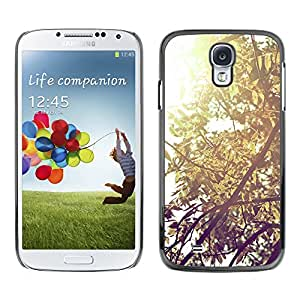 Paccase / SLIM PC / Aliminium Casa Carcasa Funda Case Cover - Plant Nature Forrest Flower 57 - Samsung Galaxy S4 I9500