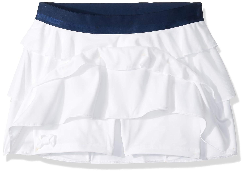 adidas Falda de Tenis con Volantes para niñas, niña, Color Blanco ...