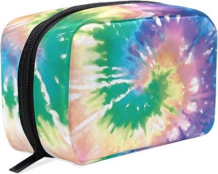 LIUBT Colorido Rainbow Tye Dye Neceser Neceser Neceser de Viaje Maquillaje Estuche Organizador Multifunción para Mujeres: Amazon.es: Equipaje