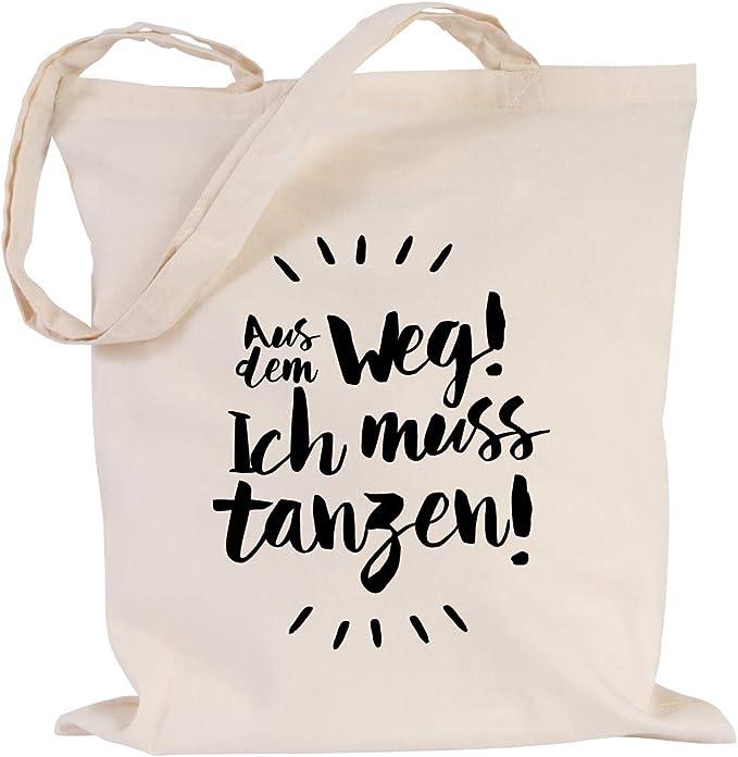 """JUNIWORDS Turnbeutel Motiv /""""Ich muss erstmal GAR NIX!/"""" versch Farben Tasche"""