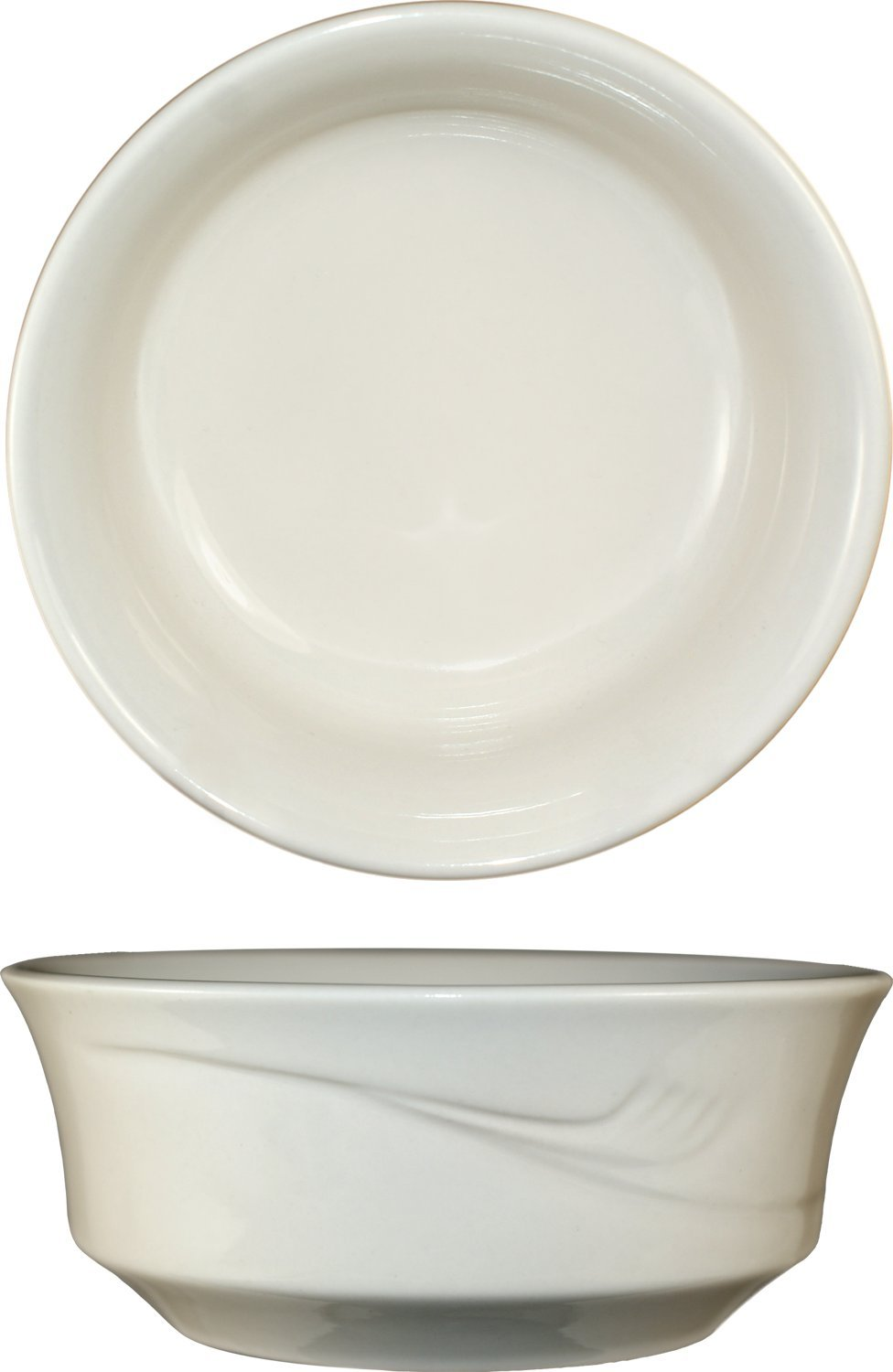 ITI - NP-15 NEWPORT  Bowl 12 Ounce  American White - 5'', 36-piece, off white, Embossed Pattern by ITI