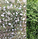 Emoyi 3d No Glue Static Decorative Privacy Window Films for Glass Non-Adhesive Heat Control Anti Uv 17.7in. By 78.7in. (C)