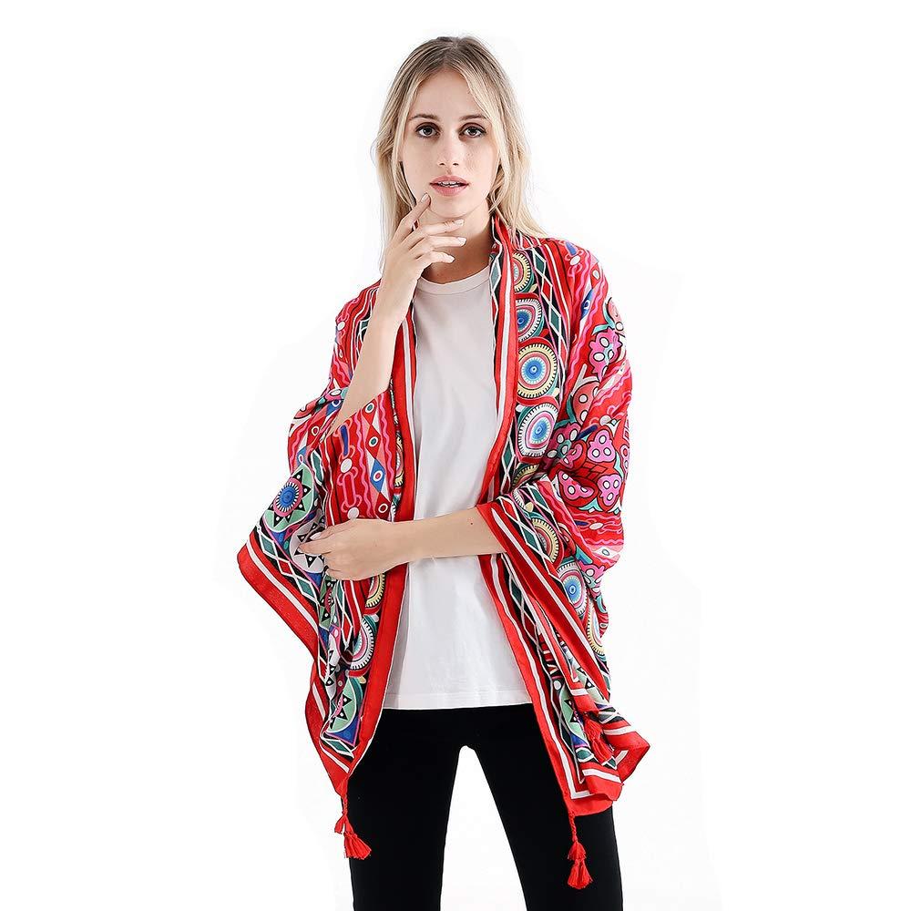 20 VISAER Womens 100% Twilled Cotton Fleeing Long Fashion Designer Scarf Travel Pashmina Tassel Bohemia Shawl Wrap