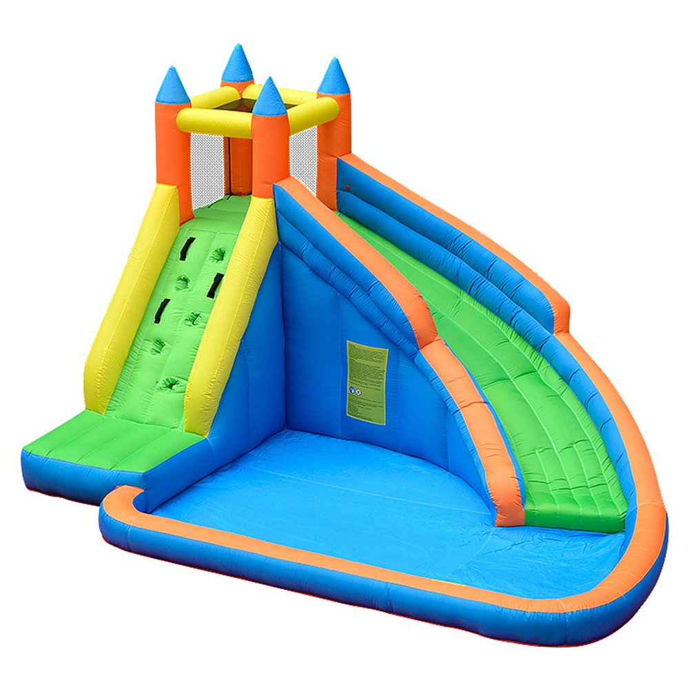 Doctor Dolphin Inflatable Bounce Slide Water Park Bouncy Castle House with Air Blower
