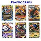 EX Mega Pack of 6 Plastic Cards - Charizard Mega EX & GX - Rayquaza Mewtwo Lucario with Free 5 EX