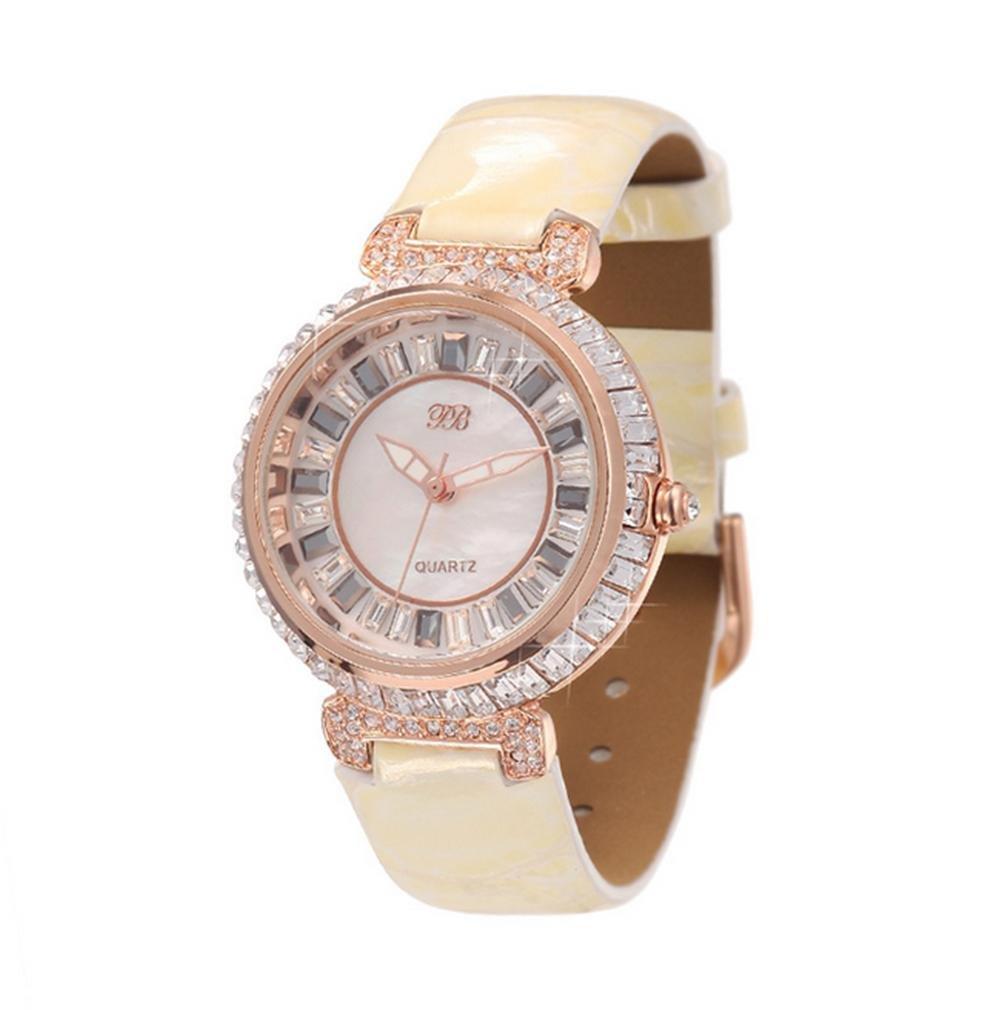 WP- Uhr Armbanduhr Mode-Damen-Diamant-Quarz-Uhr  - 3