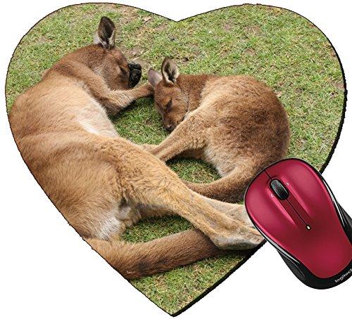 Liili Mousepad Heart Shaped Mouse Pads/Mat ID: 28979989 Sleeping mother and her joey Ballarat Wildlife Park Victoria - Kids Ballarat