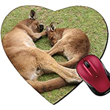 Liili Mousepad Heart Shaped Mouse Pads/Mat ID: 28979989 Sleeping mother and her joey Ballarat Wildlife Park Victoria Australia