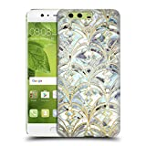 Official Micklyn Le Feuvre Pale Bright Mint And Sage Art Deco Marbling Marble Patterns Hard Back Case for Huawei P10 Plus