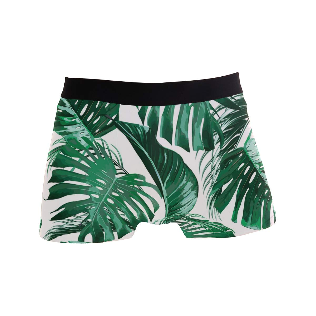 CATSDER Tropical Palm Tree Leaves Jungle Leaf Green Boxer Briefs Mens Underwear Pack Seamless Comfort Soft