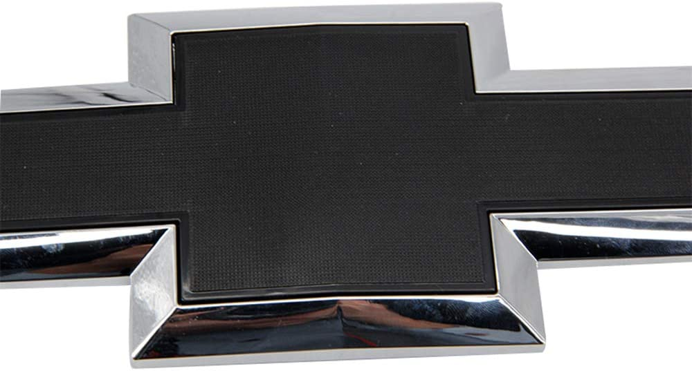 Cardiytools Black Front Grill Bowtie Emblem for 2016-2019 GM Chevy Silverado 1500
