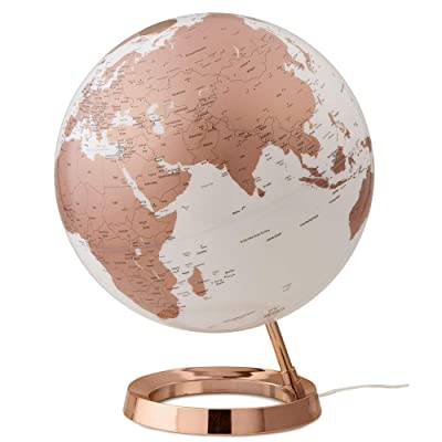 Waypoint Geographic Light & Color Designer Series 12-inch Illuminated Decorative Desktop Globe (Copper): Office Products