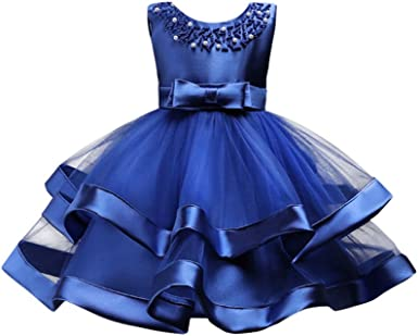 Lace or Ball Gown for Dogs: One Formal Party Dog Dress w Organza Ruffles Bridesmaid Flower Girl Wedding Pearls over Satin