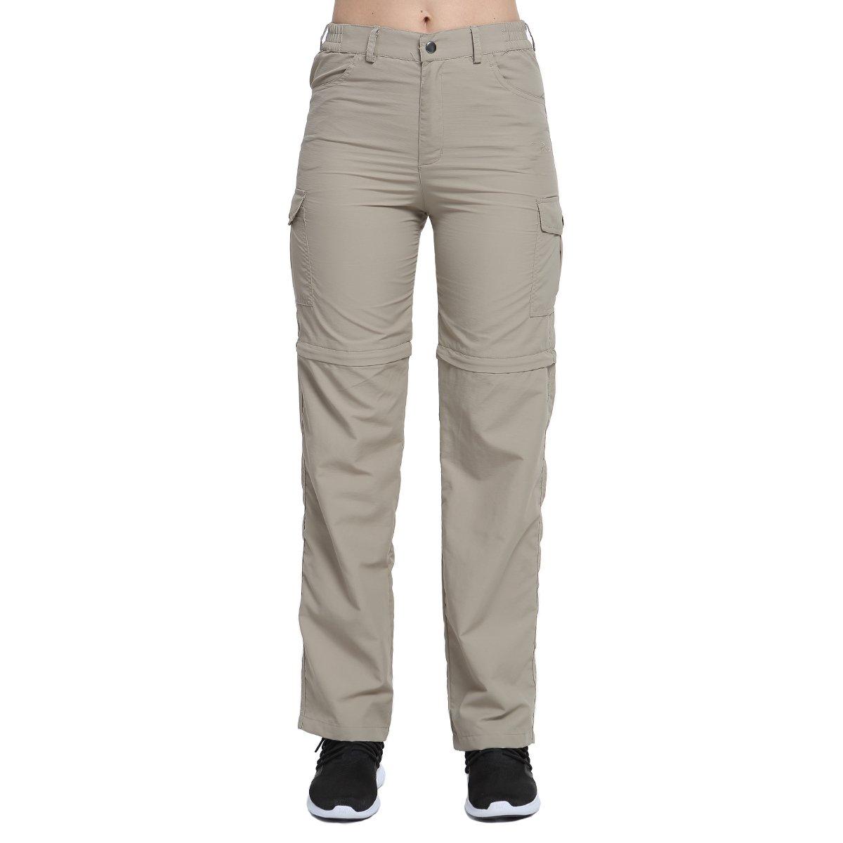 Phibee Pantalones Convertibles de Mujer Pantalones de Senderismo Extraíbles de Secado Rápido para Exteriores Kangya
