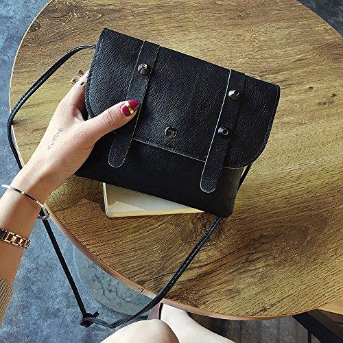 Black Domybest Mini Bag Shoulder Belt Phone Button Crossbody PU Women Leather Messenger Bags 17r1C
