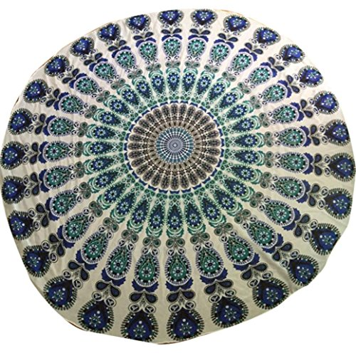 OVERMAL Indian Circle of Flowers Purple  - Jade Round Wall Hanging Shopping Results