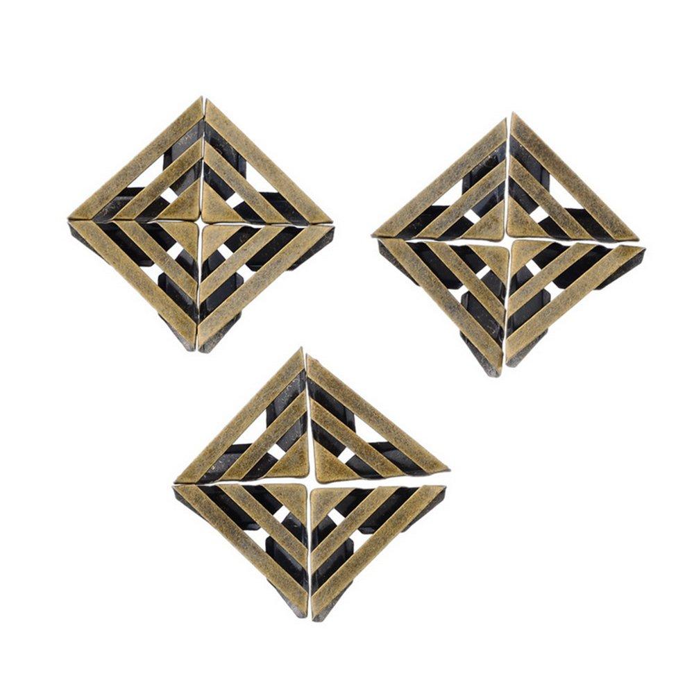 Godagoda Lot de 100Pcs Protecteur Angle Coin pr Livre Album Couleur Argent Mat 2.3cmx1.2cm hello-crafts