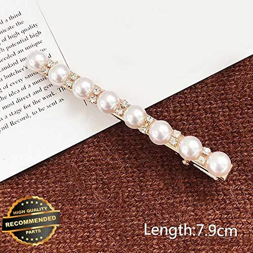 Gatton Premium New Women Girls Barrettes Hair Clip Crystal Elegant Pearl Hairpin Barrette Headdress   Style HRCL-M182012037 ()