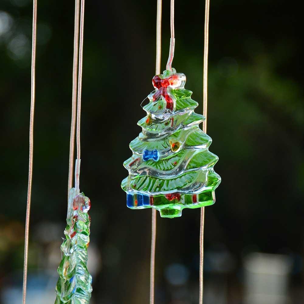 Amazon.com : Yescom Solar LED Color Changing Xmas Tree Wind Chime ...