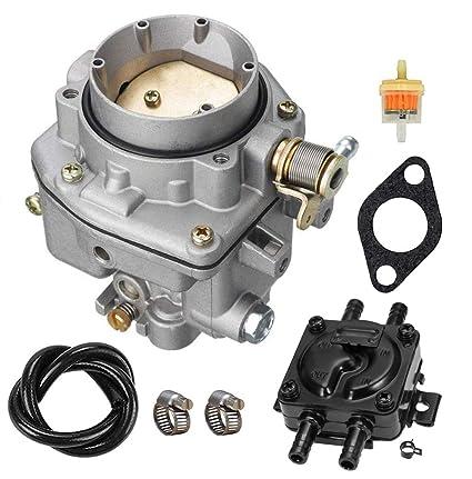 146-0496 Carburetor with Fuel Pump oil filter Kit For ONAN NOS B48G B48M  P216G P218G P220G replacement 146-0414 146-0479 by LIYYOO