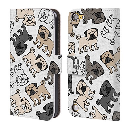 Head Case Designs Pug Dog Breed Patterns Leather Book Wallet Case Cover For iPod Touch 5th Gen / 6th Gen