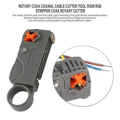 Cortador rotatorio coaxial coaxial del cortador del cable coaxial RG58 RG6 del cortador rotatorio