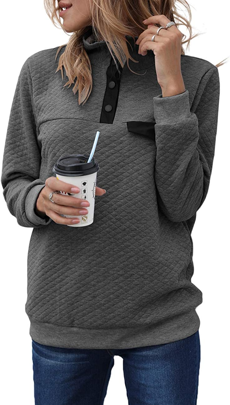 MEROKEETY Women's Long Sleeve V Patchwork Quilted Popular products Neck Button Ranking TOP14 Pu