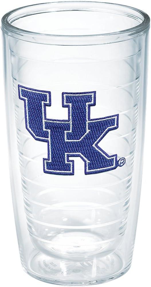 Tervis Kentucky Univ Emblem 16oz Tumbler with No Lid, Clear -