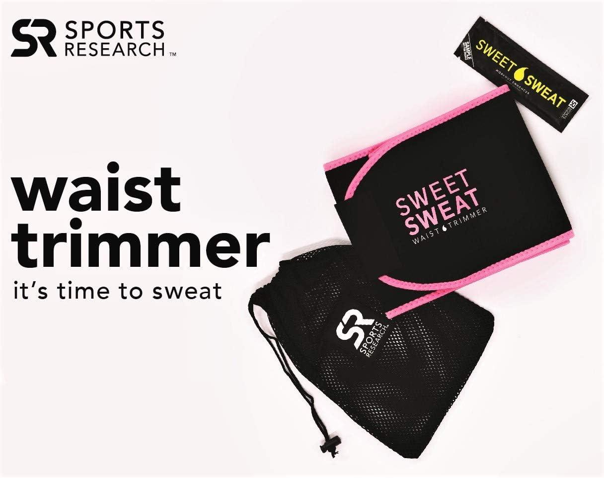pinkes Logo f/ür Damen und Herren ~ inkl Sweet Sweat Premium Taillentrimmer SM: 20,3 cm Breite x 88,9 cm L/änge kostenloser Probe von Sweet Sweat Gel
